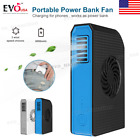 Mini Handheld Fold Desk Fan Rechargeable w/ 6000mAh Power USB Electric Cooler