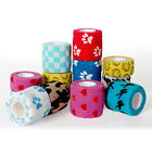 Cute Pet Dog Cat Vet Wound Elastic Cohesive Bandage Self Adherent Wrap Tape