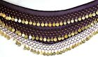 NOISY 3 ROWS BELLY DANCE HIP SCARF WRAP BELT  UK SIZE18-22 XXL PLUS SIZE