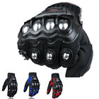 Mens Motorcycle Biker Tactical Full Finger Gloves Alloy Steel Hard Knuckle Sport