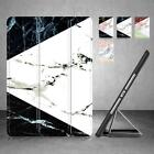 Synthetic Leather Marble Pattern Magnetic Smart Stand Case Cover for iPad Series