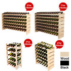 72 91 Bottles Solid Wood Wine Rack Holder Stackable Storage Display Shelves