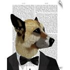 Wall Decal entitled Debonair James Bond Dog $33.99 USD on eBay