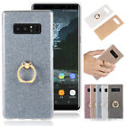 Soft Silicone Bling Glitter Finger Ring Slim Case Cover For Samsung Note 9 A5 S9