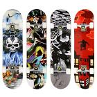 "31""x8"" Maple Wood skateboard Complete Longboard 4 Different Design w/ PU Wheels"