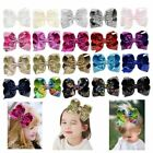 """Внешний вид - 8"""" Large Sequin Glitter Bow Hair Clips for Baby Girl Toddlers Kids Children Gift"""