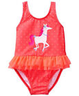 NWT Gymboree GETAWAY SHOP Bright Tangerine Horse Dot Tulle Swim Swimsuit NEW