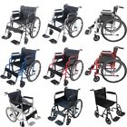 AID Wheelchair Self Propelled Folding Lightweight Transit Travel Wheelchair