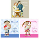 CONGRATULATIONS ON YOUR NEW ARRIVAL Baby Greetings Cards~New Brother~New Sister