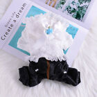 Lace Pet Dog Jean Jumpsuit Yorkie Chihuahua Clothes Small Puppy Outfit White