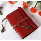 Vintage Leather Journal Notebook Classic Retro Spiral Ring Binder DiaryBook