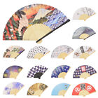 15pcs Japanese Folding Fan Ukiyo-e SYARAKU FUJI HOKUSAI Hand Fan Japan DAISO F/S