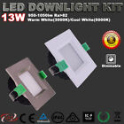 13W Square LED Downlight Kit Dimmable IP44 Warm/Cool White 5 Yrs Warranty Lights