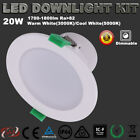LED DOWNLIGHTS KIT DIMMABLE 20W 150MM CUTOUT WARM OR COOL WHITE 5 YRS WARRANTY