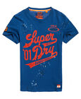 Neues Herren Superdry  Legion T-Shirt Upstate Blau Slub