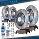 Drilled Slotted Front & Rear Rotors Ceramic Pads for Dodge Grand Caravan Journey