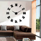 DIY Oversized Wall Clock Modern Watch DIY Large Roman Number Wall Clock Sticker