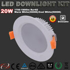 20W RECESSED LED DOWNLIGHTS KIT DIMMABLE WARM/COOL WHITE 3 YRS WARRANTY DRIVER