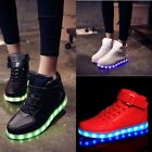 Leuchtend Plateau Sneakers LED Licht Blinkschuhe Herren Damen Wedges Schuhe