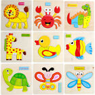 wooden fish puzzle - Animals Wooden Puzzle Jigsaw Baby Kid Pre-school Educational Early Learning Toy