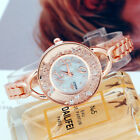 Women's Fashion Stainless Steel Band Bracelet Analog Quartz Small Wrist Watches image