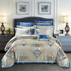 High-end satin cotton Bedding bag Luxury Royal duvet cover bed cover pillowcases image