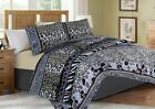 #6  ANIMAL LIGHT PURPLE LEOPARD QUILT SET BED COVER BEDDING QUILTED BEDSPREAD image