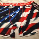 New PATRIOTIC USA Boxer Brief by CRAZY BOXERS *Size S, M, L* AMERICAN FLAG