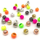 SLOTTED TUNGSTEN BEADS - 20 Pack - Fly Tying Copper Gold Silver Black - 8 Sizes!