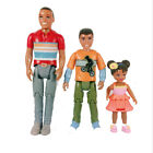 Fisher Price Loving Family White & African American Family Dad Brother Toddler