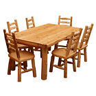 Solid Cedar Log Dining Table Wood High Quality Cabin Western Lodge Rustic NEW
