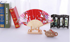 Original Bamboo Folding Hand Fan fit Wedding Party Summer WOODEN PRINTED