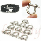 1/3/5pcs O-Shaped Stainless Steel Shackle Buckle For Paracord Survival Bracelet