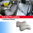 Gray PU Leather Suede 5 Car Seat Covers Cushion Front Rear 803551 Dodge $74.95 USD on eBay