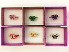 New Children's Jewelry Jeweled Enamel Girl's BUTTERFLY Adjustable RING