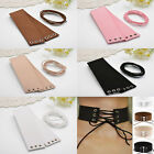 'Faux' Leather  Wide Tie  Lace Up Collar Chokers - Many Colours(JCe3 )