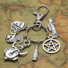 Keychain or Bag clip Sam Castiel, Fandom Accessories, Supernatural Keychains
