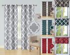 1/2PC SET WINDOW CURTAIN LINED BLACKOUT GROMMET PANEL VALANCE MOROCCAN PRINT