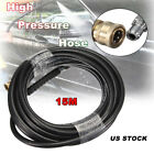 5800PSI High Pressure Hose Washer Tube 3/8 Quick Connect-Pressure Washer 10m/15m
