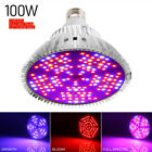 100W LED Grow Light Bulbs 3 Modes Dimmable For Full Spectrum Plants AC85-265V