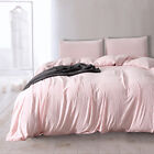 Soft Duvet Cover Sets Washed Cotton Bedding Set Pillowcase Twin/Queen/King Size