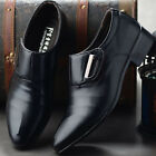 Mens Formal Office Work Shoes Casual Pointed Toe Wedding Shoes