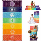 Внешний вид - Rainbow Boho Beach Mat Mandala Blanket Striped Wall Hanging Tapestry Scarf Yoga