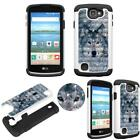 Hybrid Crystal for LG Rebel Ultra Shock Proof Thin Case Bling Case Dual Layer