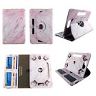 "8 inch tablet case universal 8""cases rotating stand cash card slots"