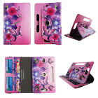 """8 inch tablet case universal 8""""cases rotating stand cash card slots"""