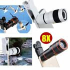 8X Zoom Optical Telephoto Camera Clip On Telescope Lens For Mobile SmartPhone WN