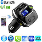 Bluetooth Car Kit FM Transmitter USB Phone Charger MP3 Player Hands Free Call UK