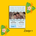 Personalised Photo New Baby Twin Birth Girl Boy Announcements & Thank You Cards