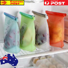 4X Reusable Silicone Food Preservation Bag Airtight Seal Food Storage Container